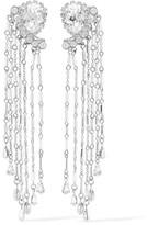 Erickson Beamon Paper Cranes Silver-tone Crystal And Bead Earrings