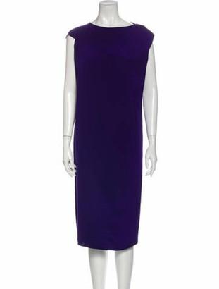 Zero Maria Cornejo Silk Midi Length Dress w/ Tags Purple