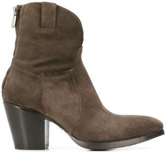 Rocco P. block heel ankle boots