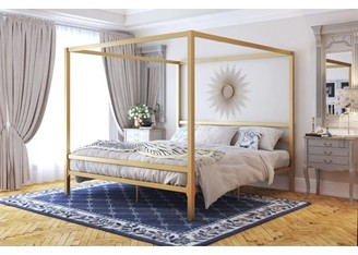 DHP Modern Canopy Gold Metal Bed, King, (Gold) [bed_king]