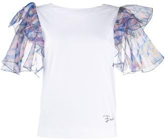 Emilio Pucci ruffled sleeves T-shirt