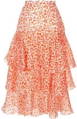 DELPOZO Ruffle Layered Skirt
