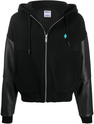 Marcelo Burlon County of Milan Panelled Zip-Up Hoodie