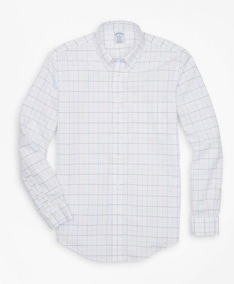 Brooks Brothers Non-Iron Regent Fit Multi-Windowpane Sport Shirt