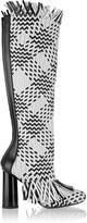 Proenza Schouler Woven leather knee boots