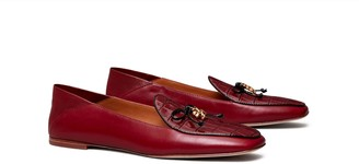Tory Burch Tory Charm Mixed-Materials Loafer