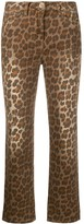 Pinko Leopard Print Jeans