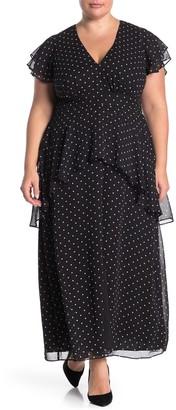 Rachel Roy Val Polkadot Maxi Dress (Plus Size)