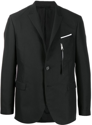 Neil Barrett Single-Breasted Multi-Pocket Blazer