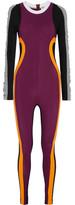 NO KA 'OI No Ka'Oi - Kimo Ruched Color-block Stretch Bodysuit - Merlot