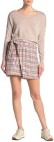 Scotch & Soda Structured Checked Tweed Skirt