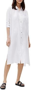 Eileen Fisher Checked Silk Shirt Dress