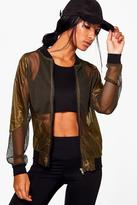 Boohoo Rosie Fit Bomber Sports Jacket