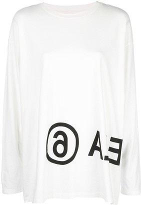 MM6 MAISON MARGIELA logo long-sleeved T-shirt
