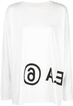 MM6 MAISON MARGIELA logo long-sleeved T-shirt