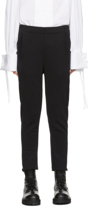 Ann Demeulemeester Black Cropped Lounge Pants