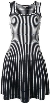 Lela Rose Fitted Stripe Knit Dress