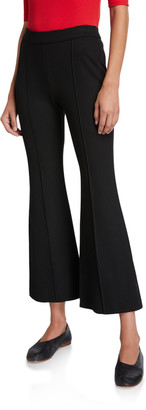 Rosetta Getty Cropped Flare-Leg Trousers