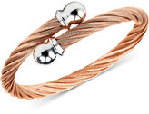 Charriol Twisted Cable Bypass Bracelet in Rose Gold-Plated Stainless Steel