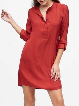 Banana Republic Petite Utility Popover Shirtdress