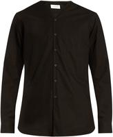 Lemaire V-neck cotton poplin shirt