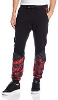 Southpole Men's Jogger Pant with Geo-Printed Patches
