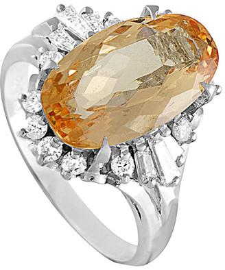 Heritage Platinum 5.19 Ct. Tw. Diamond & Topaz Ring