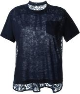 Sacai lace panel T-shirt