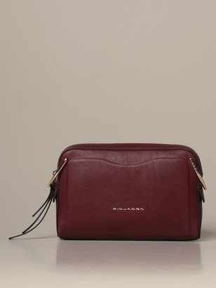 Piquadro Gea Crossover Shoulder Bag In Calfskin