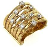 Marco Bicego 18K Yellow Gold Marakesh Diamonds Rows Band Ring