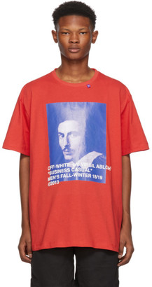 Off-White Red Business Casual Bernini T-Shirt