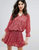 BA&SH Tiered Skirt Printed Dress