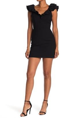 Do & Be V-Neck Cap Ruffle Detail Dress
