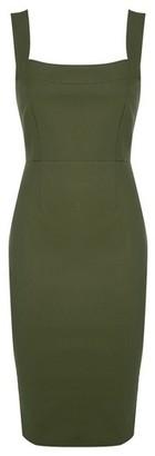 Dorothy Perkins Womens Vesper Knaki Bodycon Midi Dress