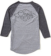 O'Neill Flyer Color Block Raglan-3/4-Sleeve Tee
