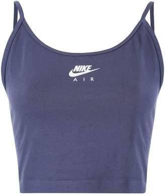 Nike cropped logo tank top