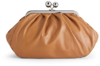 Max Mara Medium Leather Pasticcino Clutch Bag