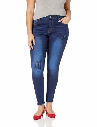 City Chic Women's Apparel Women's Plus Size Distressed Skinny Denim Jean