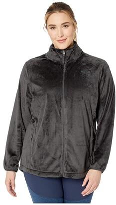 The North Face Plus Size Osito Jacket (Asphalt Grey) Women's Clothing