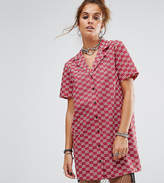 Reclaimed Vintage Inspired Short Sleeve Boxy Shirt Dress
