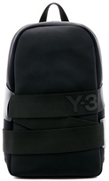 Yohji Yamamoto QRush Backpack in Black.