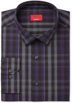 Alfani Men's Slim-Fit Stretch Windowpane Plaid Teal/Gray Dress Shirt, Created for Macy's