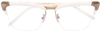 Gucci Bamboo-Effect Cat Eye-Frame Glasses