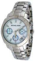Michael Kors Steel-and-Crystals Chronograph Mother-of-Pearl Dial Women's Watch #MK5092
