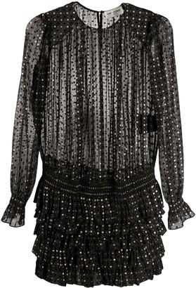 Saint Laurent polka dot patterned dress