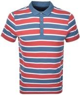 Michael Kors Towel Stripe Polo T Shirt Red