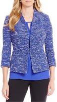 Kasper Petite Knit Tweed Jacket