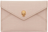 Alexander McQueen Pink and Gold Skull Envelope Card Holder