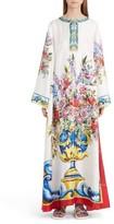 Dolce & Gabbana Women's Print Silk Caftan
