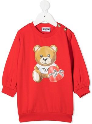 MOSCHINO BAMBINO Teddybear Print Sweatshirt
